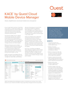 KACE Cloud Mobile Device Manager