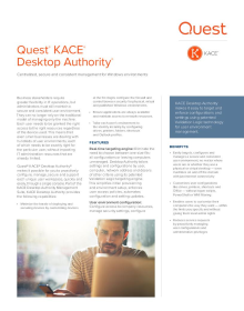 KACE Desktop Authority Datasheet
