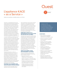L'appliance KACE « as a Service »