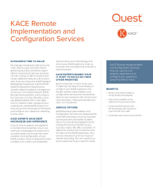 KACE Remote Implementation and Configuration Services
