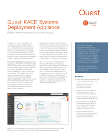 KACE Systems Deployment Appliance Datasheet