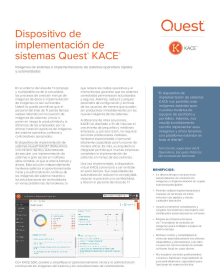 Dispositivo de implementación de sistemas Quest Kace K2000