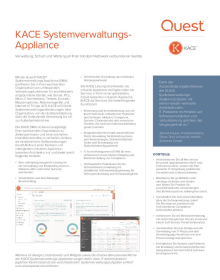 Quest KACE Systemverwaltungs-Appliance