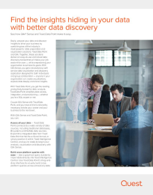Making data discovery easy with Toad Data Point and Qlik Sense