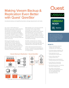 Making Veeam Backup and Replication Even Better with Quest® QoreStor™