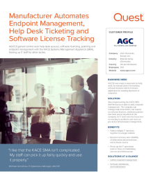Manufacturer AGC automates endpoint management and help desk ticketing