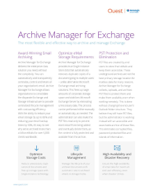 Metalogix Archive Manager for Exchange