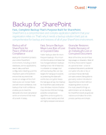 Metalogix Backup for SharePoint