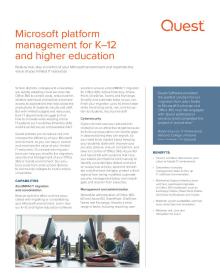 Microsoft platform management for K-12 and higher education