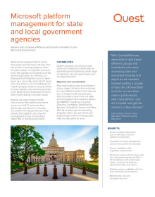Microsoft platform management for state and local government agencies