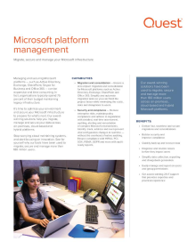 Microsoft Platform Management solution overview