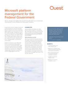 Microsoft platform management solutions for Federal Government