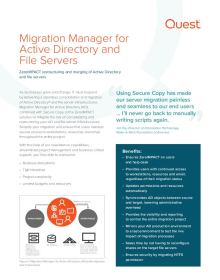 Migration Manager for Active Directory and File Servers