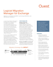 Logiciel Migration Manager for Exchange