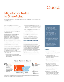 Migrator for Notes to SharePoint