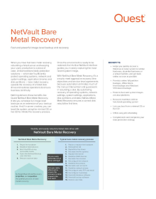 NetVault Bare Metal Recovery