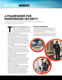 NIST Cybersecurity Framework for Modernizing Security