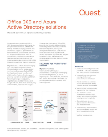 Office 365 and Azure Active Directory solutions