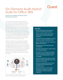 On Demand Audit Hybrid Suite for Office 365