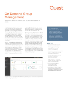 On Demand Group Management: Azure AD, Hybrid AD & Office 365 Groups