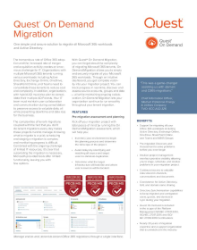 On Demand Migration Datasheet