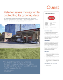 OnCue:Retailer saves money while protecting its growing data