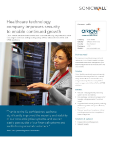 Orion Health: Health Care Technology Company Improves Security to enable continued growth