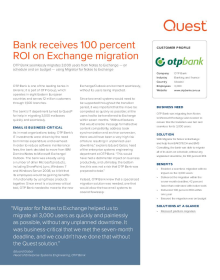 OTP Bank: Bank receives 100 percent ROI on Exchange migration