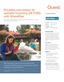 Priceline.com keeps its website humming 24/7/365 with SharePlex®