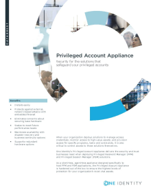 Privileged Account Appliance