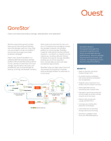 QoreStor Data Sheet