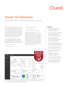 Quest On Demand Datasheet