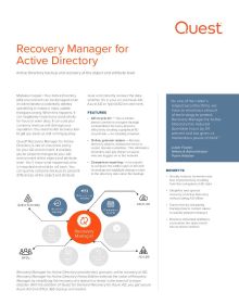 Recovery Manager for Active Directory