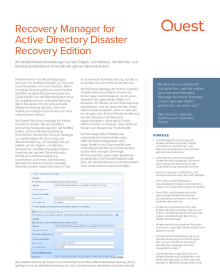 Recovery Manager for Active Directory Disaster Recovery Edition