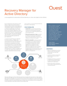 Logiciel Recovery Manager for Active Directory