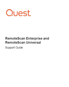 RemoteScan Enterprise Support Guide