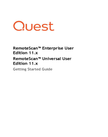 RemoteScan UserEdition Installation Support guide