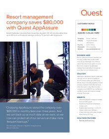 Resort management company saves $80,000 with AppAssure