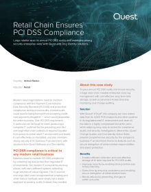 Retailer Ensures PCI DSS Compliance