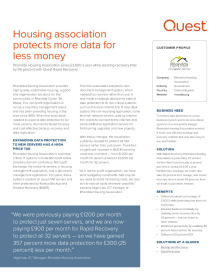 Rhondda Housing Association: Housing Association protects more data for less money