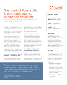 Sberbank of Russia PJSC is protected against unplanned downtime
