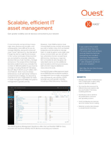 Scalable, efficient IT Asset Management