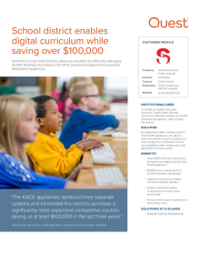 School district enables digital curriculum while saving $100,000