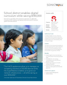 Seminole County Public Schools: School District enables digital curriculum while saving $180,000