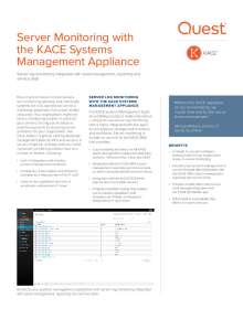 Server monitoring with the KACE K1000
