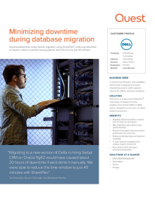 SharePlex minimizes downtime for Dell during Oracle database migration