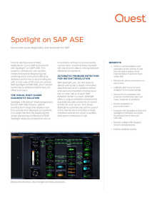 Spotlight on SAP ASE