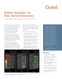 Édition Spotlight on SQL Server Enterprise
