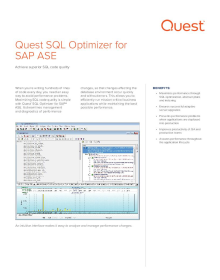 SQL Optimizer for SAP ASE