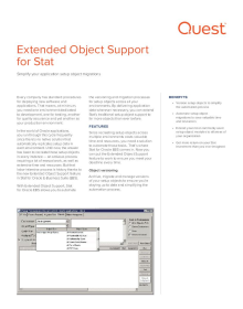 Stat Extended Object Support